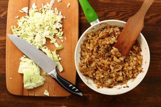 Caramelized, Fried Cabbage