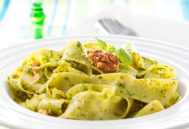 One of the best pasta recipes is walnut tagliatelle