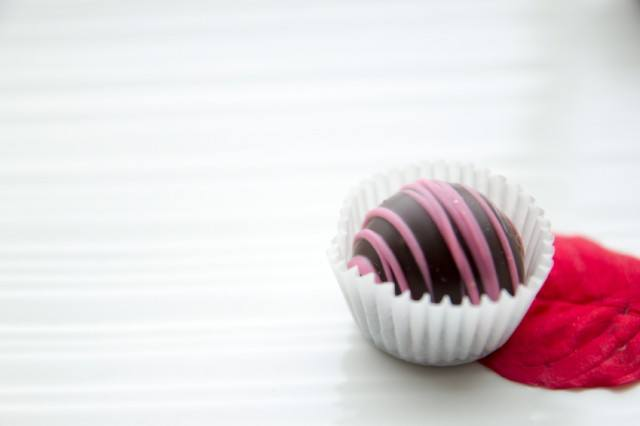 Chocolate Truffle, Pink Icing