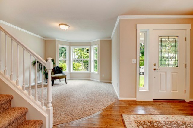 Entryway, hallway, interior, living room