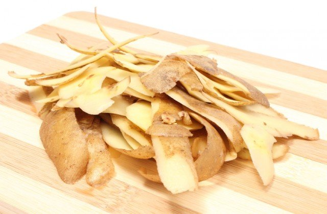 Potato peels, skins