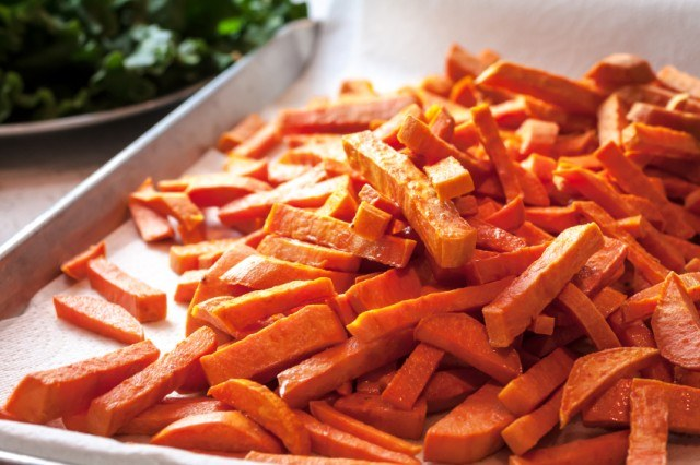 Sweet potato fries before adding toppings   Source: iStock