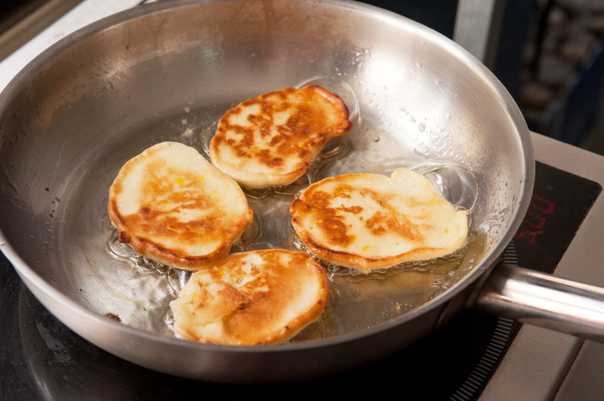 Cooking corn pancakes