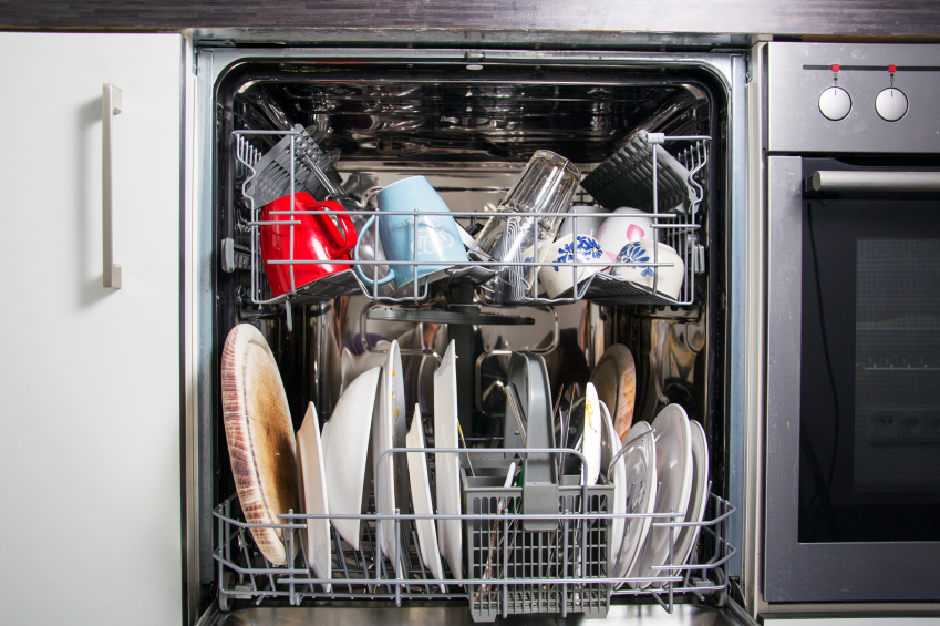 A standard kitchen dishwasher