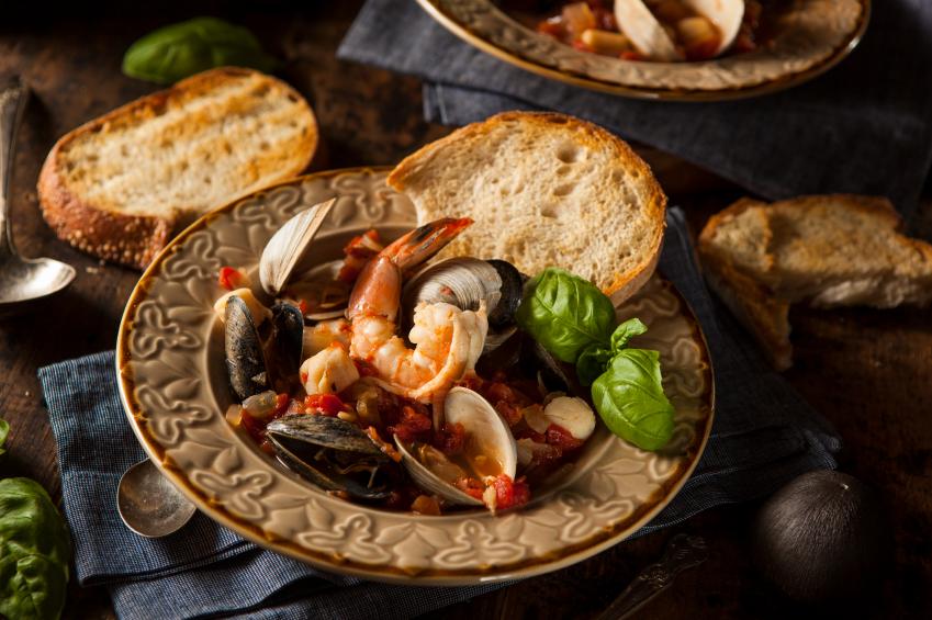Seafood Cioppino, Stew, Bouillabaisse