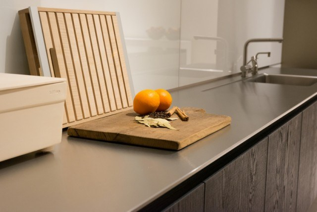7 recycled materials that help you go green in the kitchen for Stainless steel countertops cost per sq ft