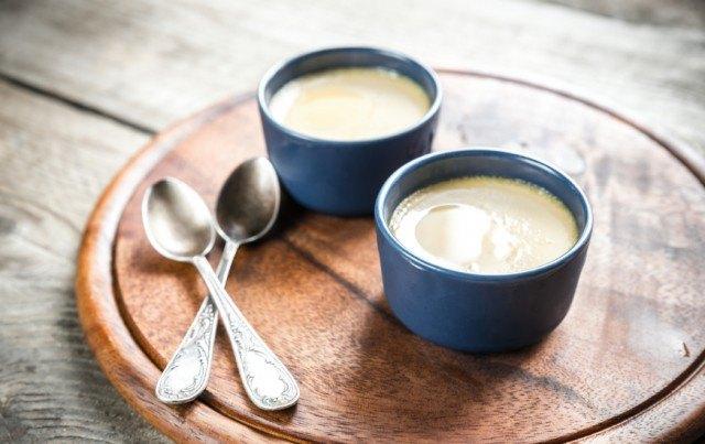 Creme caramel, vanilla yogurt/pudding