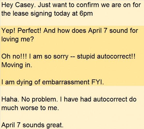 landlord autocorrect error
