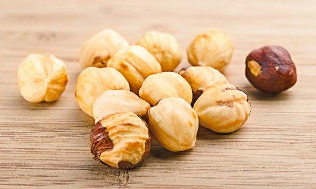 Shelled hazelnuts