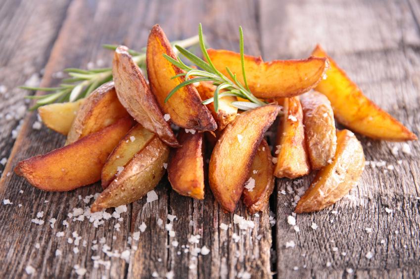 fries, rosemary