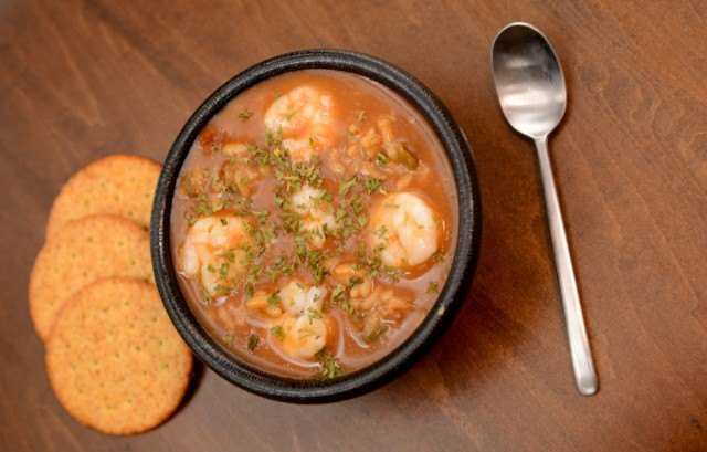 Soup, stew, shrimp gumbo