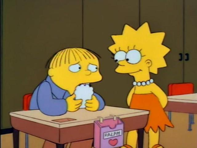Ralph Wiggum and Lisa Simpson