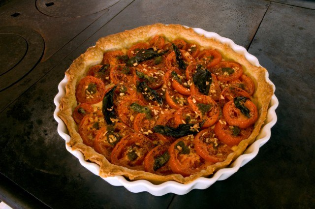 tomato pie, pastry, tart
