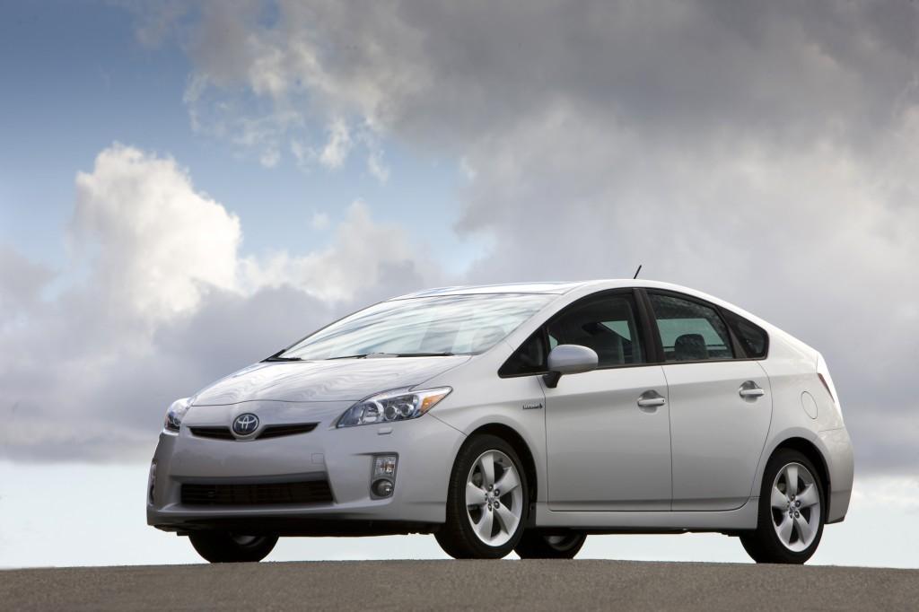 A white 2010 Toyota Prius