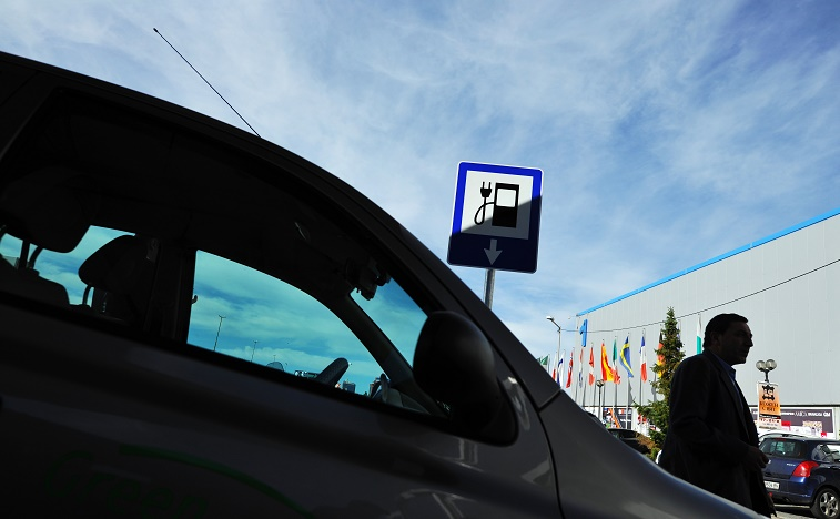 electric vehicle charging EV charge DIMITAR DILKOFF/AFP/Getty Images