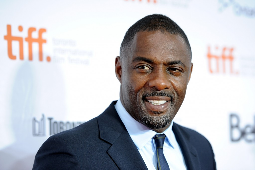 Idris Elba smiling