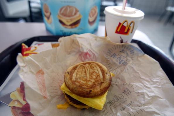 Fast food meal on packaging