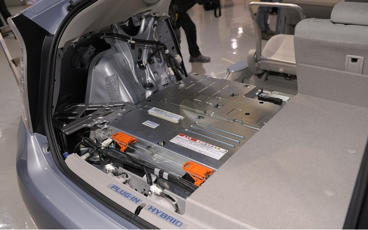 A new lithium-ion battery is installed u