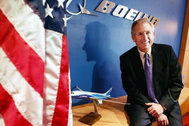 Paris, FRANCE: Boeing chairman James McNerney poses prior a meeting with the press at Boeing France's offices in Paris 03 May 2006. The head of US aeronautics giant Boeing said Wednesday he wanted to see the United States and the European Union reach a negotiated settlement at the WTO to a row over government aid to their aircraft manufacturers. Photo by Olivier Laban-Mattei/AFP/Getty Images