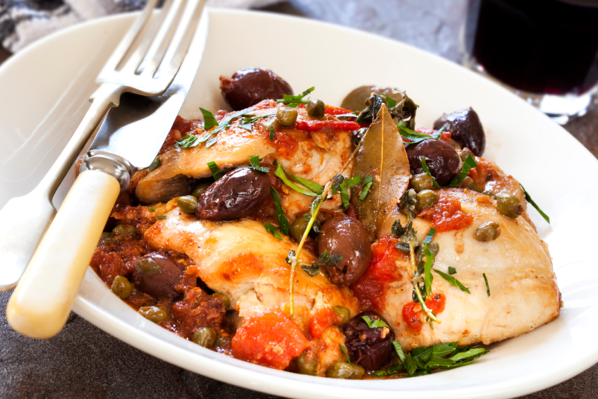chicken with olives and tomatoes