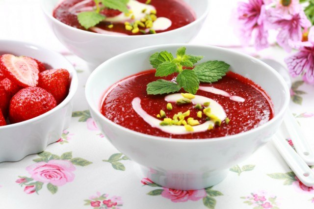 A refreshing fruit summer soup