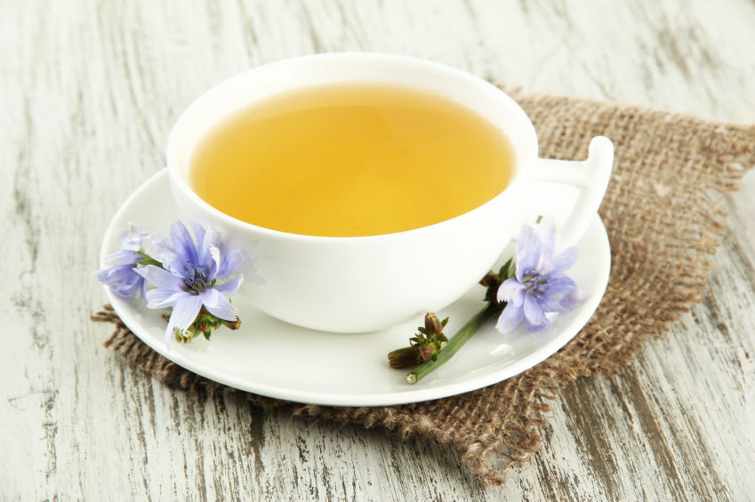 Cup of tea, chicory, drink