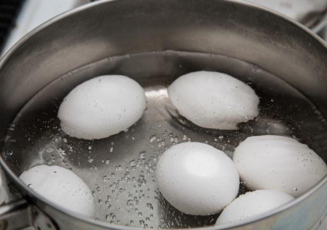 Eggs Boiling in Saucepan