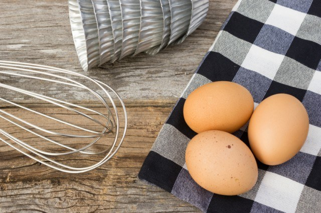eggs on counter with whisk