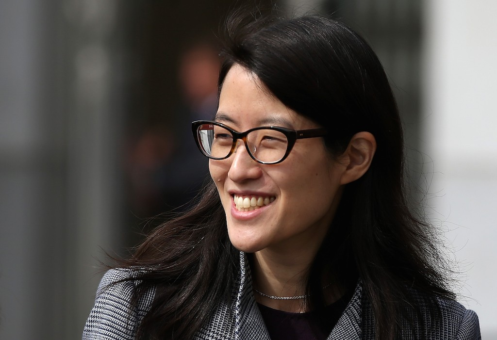 Ellen Pao leaves the California Superior Court Civic Center Courthouse during a lunch break from her trial on March 10, 2015 in San Francisco, California. Reddit interim CEO Ellen Pao is suing her former employer, Silicon Valley venture capital firm Kleiner Perkins Caulfield and Byers, for $16 million alleging she was sexually harassed by male officials. (Photo by Justin Sullivan/Getty Images)