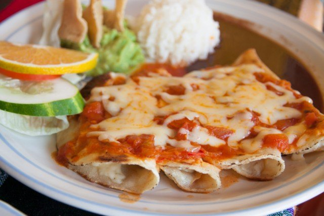 Enchiladas are one of several comfort foods you can enjoy during the summer