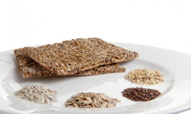 flaxseed crackers with seeds and nuts