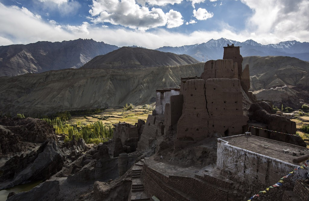 The Basgo Monastery, a world Heritage site on October 4, 2012 near to Leh in Ladakh, India. Ladakh, nestled between the Kunlun mountain range in the north and the main Great Himalayas to the south, was once an ancient Buddhist Kingdom and for over half a century now, a strategic military outpost for India. Ladakh, sharing borders with both China and Pakistan, has seen an increase in tourism over the last few years, an alternative to Nepali Himalayan treks. (Photo by Daniel Berehulak/Getty Images)