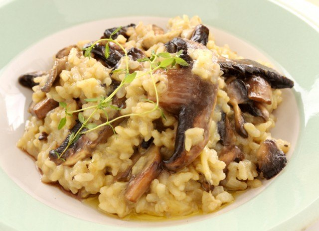 risotto with wild mushrooms and thyme