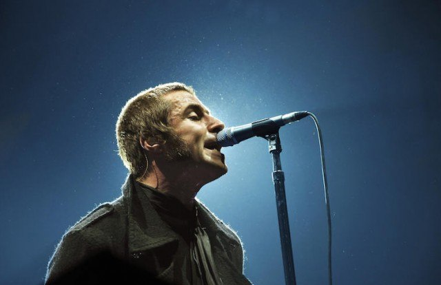 Liam Gallagher of Oasis singing