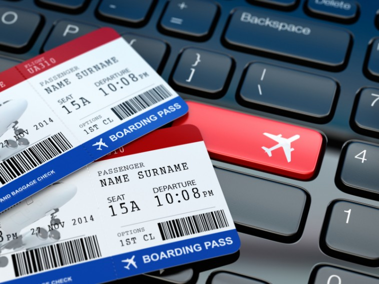 Online ticket booking, boarding pass, travel