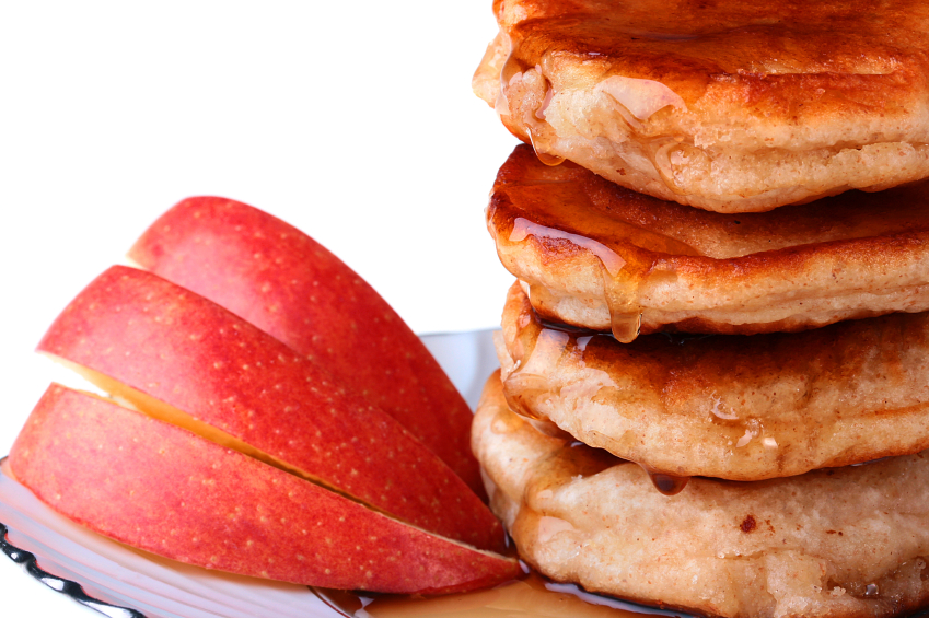 Pancake and apples