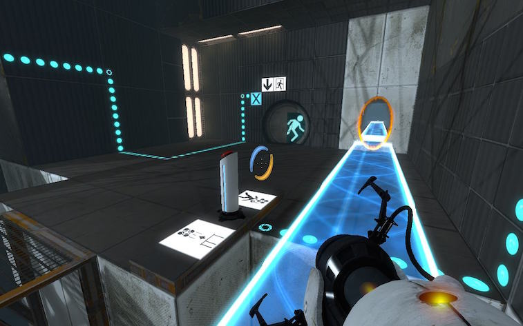 Use portals to solve puzzles.