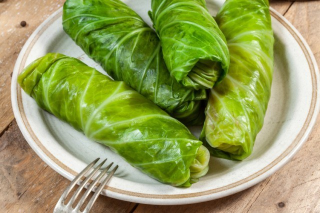 Stuffed Cabbage Rolls, Greens