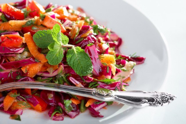 Salad, Coleslaw, Red Cabbage, Carrots