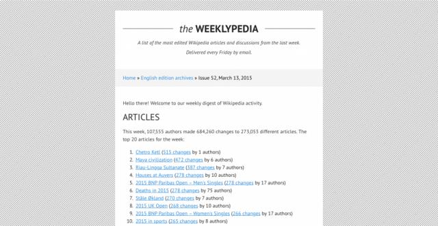 The Weeklypedia
