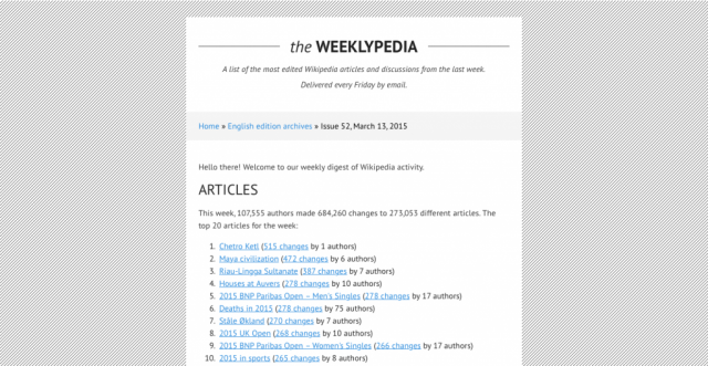 The Weeklypedia