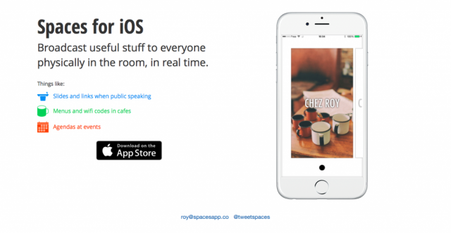Spaces for iOS