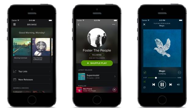 Spotify iOS app