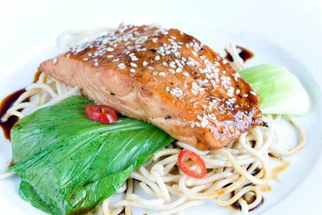 Sesame crusted salmon