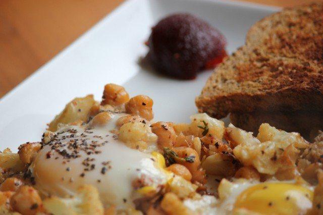 Chickpea and potato hash