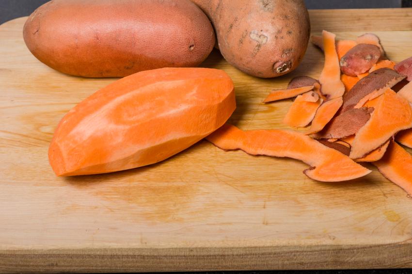 Sweet potatoes, peeled