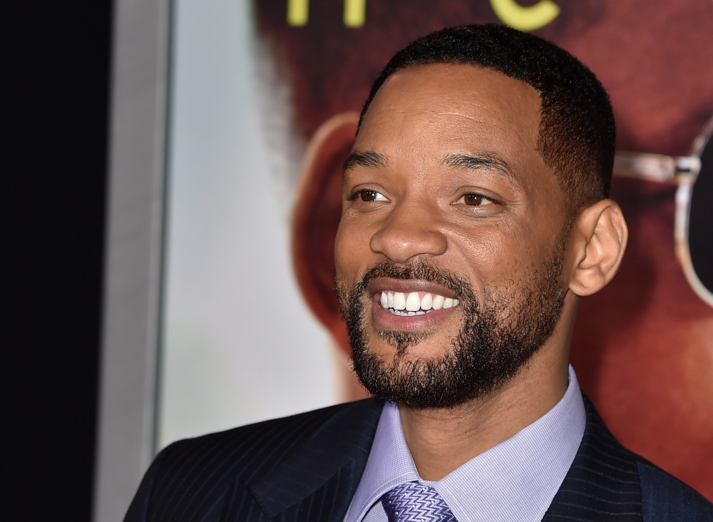 Actor Will Smith smiling