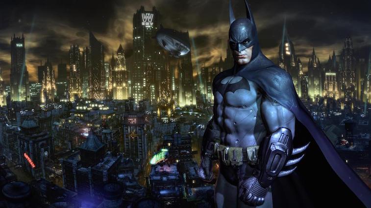 Batman wearing black