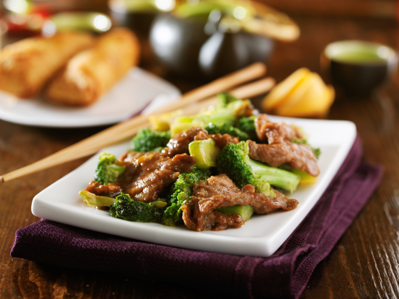 Beef and Broccoli Stir Fry is one of several healthier alternatives