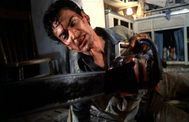 A scene in cult film Evil Dead 2